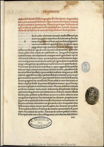 Prólogo del manuscrito de BNE de Opus sinonymorum o De sinonymis elegantibus libri tres. BDH (BNE)