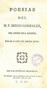 Portada de la edición de las Poesías de 1796