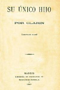Portada de Su único hijo (1890)