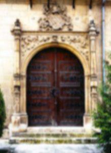 Portada del palacio de Castilfalé