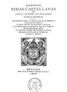 Edición de la poesía maluendina