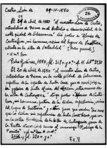 Documentos relativos a León de Castro