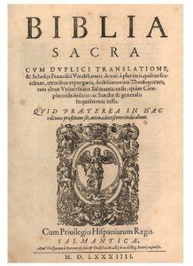 Frontispicio de Biblia sacra