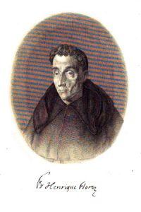 Retrato del P. Enrique Flórez que grabó Manuel Salvador Carmona