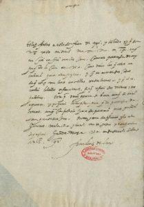 Carta autógrafa con firma de fray Luis