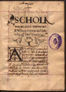 Scholia magistri Francisci a Vitoria