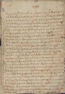 Carta manuscrita de Santa Teresa de Jesús a Isabel Osorio