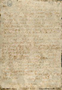 Carta manuscrita de Santa Teresa de Jesús a Álvaro de Mendoza