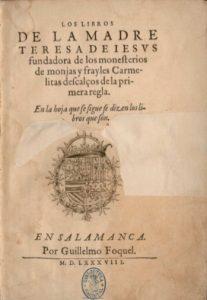 Primera edición de la obra teresiana por fray Luis de León