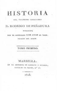 Portada de la edición princeps