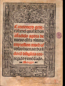 Cancionero general, Sevilla, Cromberger, 1535
